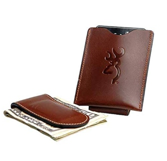 Browning Leather Money Clip & Card Holder