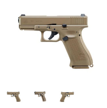 Glock 19X Cal. 4,5 MM (.177) Steel BBS (Blowback)
